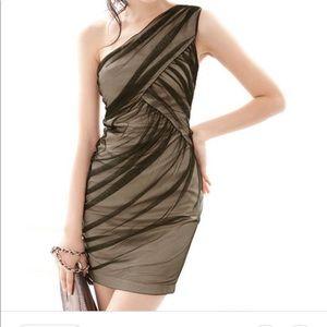🆕 Joanne Kitten Lace One Shouldered Dress sz SM